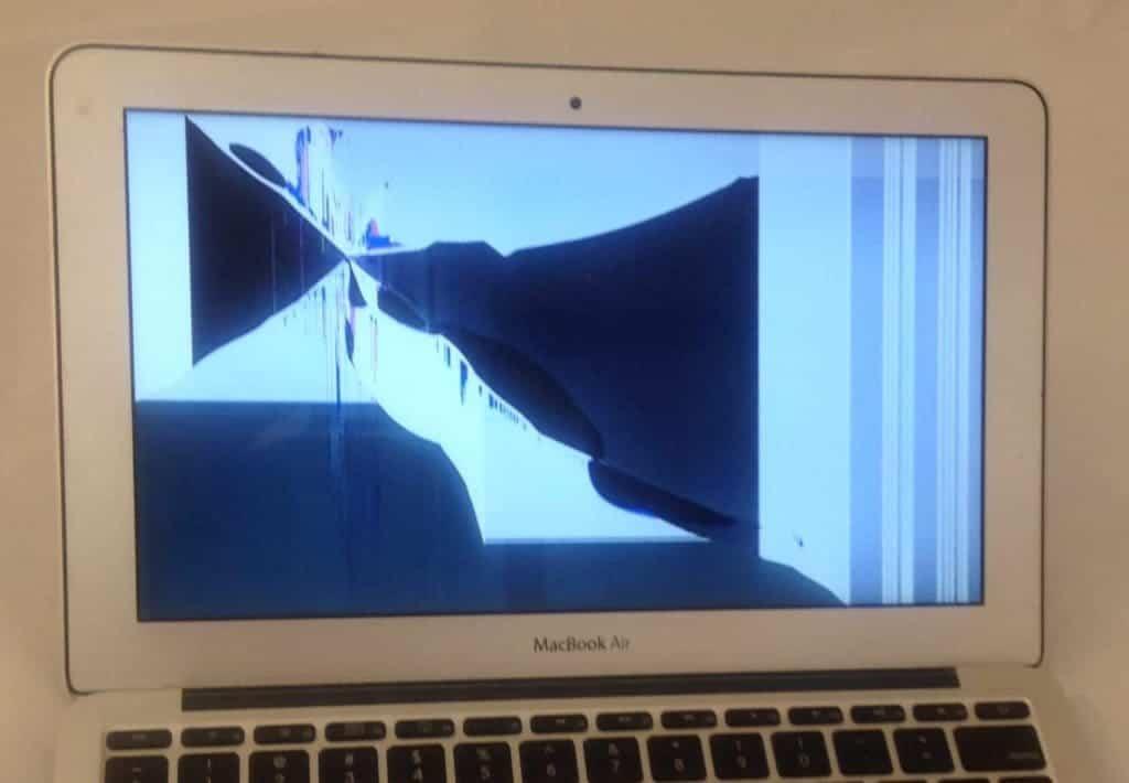 Black splotches on MacBook Air screen