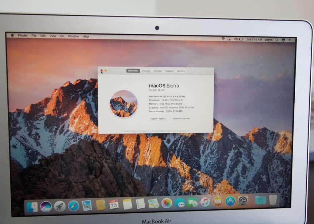 "MacBook Air 13"" A1465 Specs"