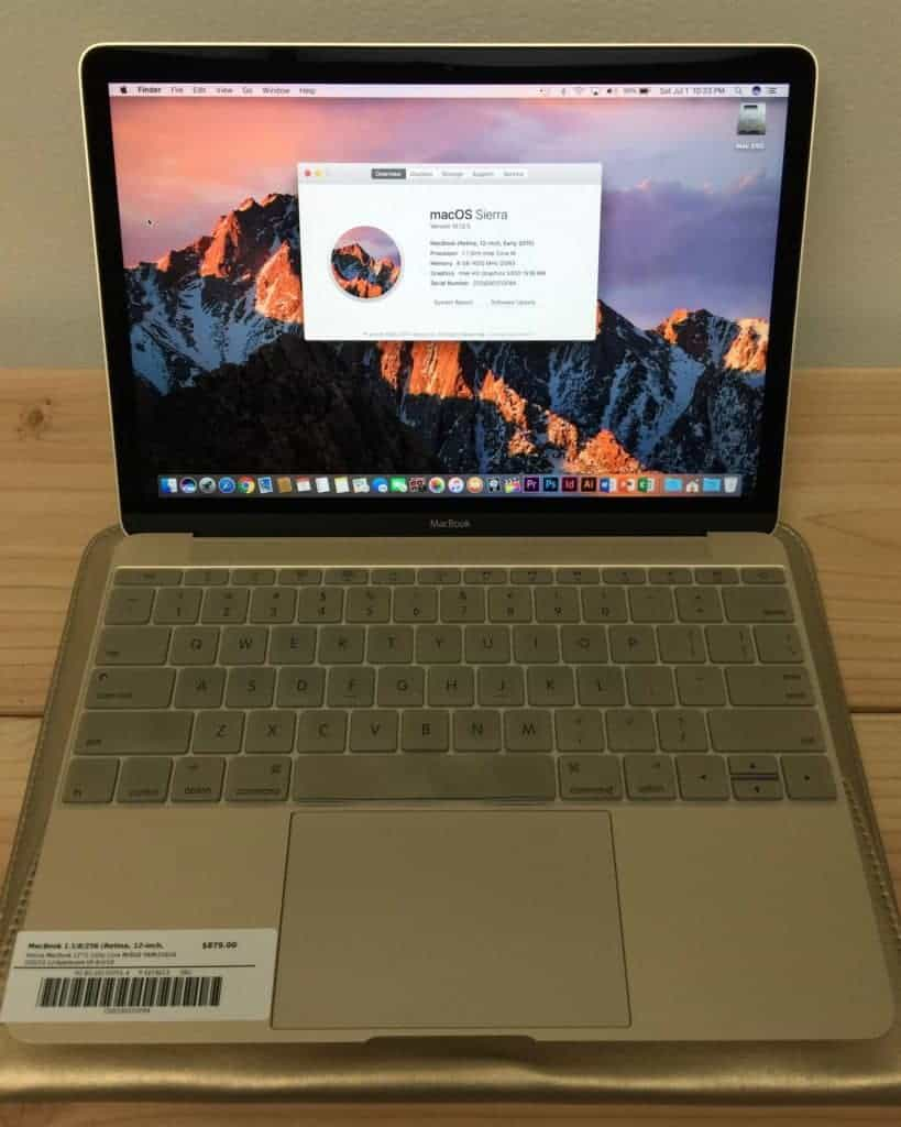 Gold MacBook for sale