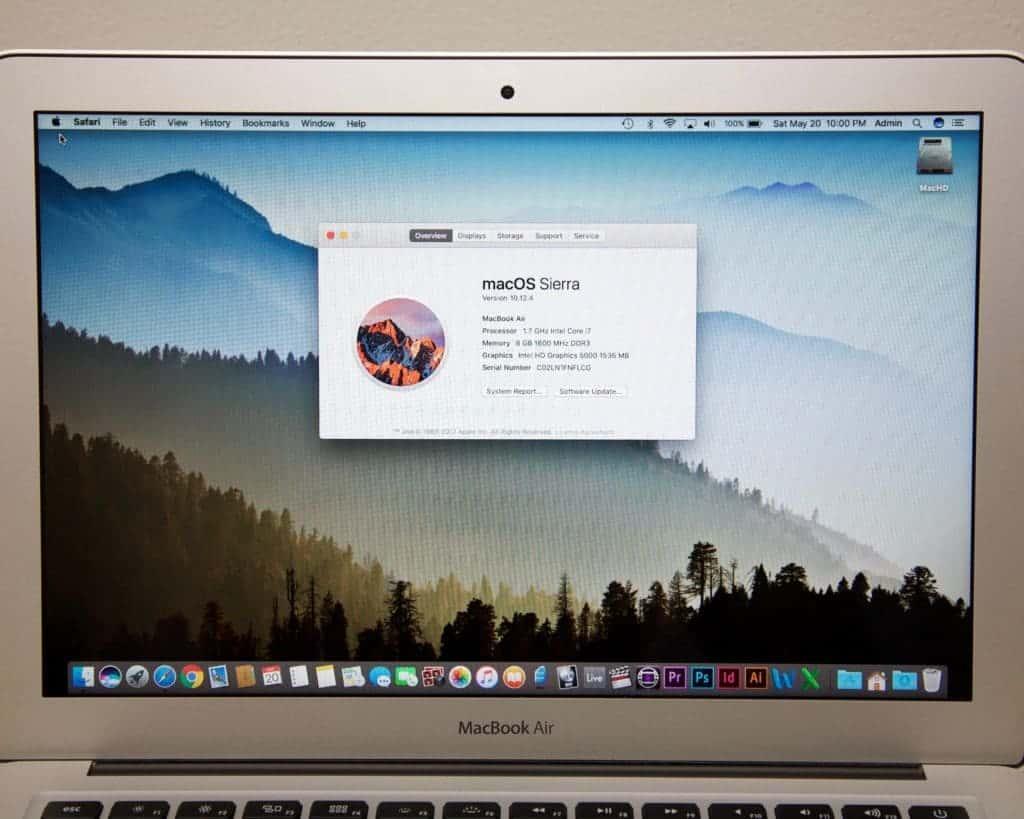 "MacBook Air 13"" 8GB RAM For Sale Specs"