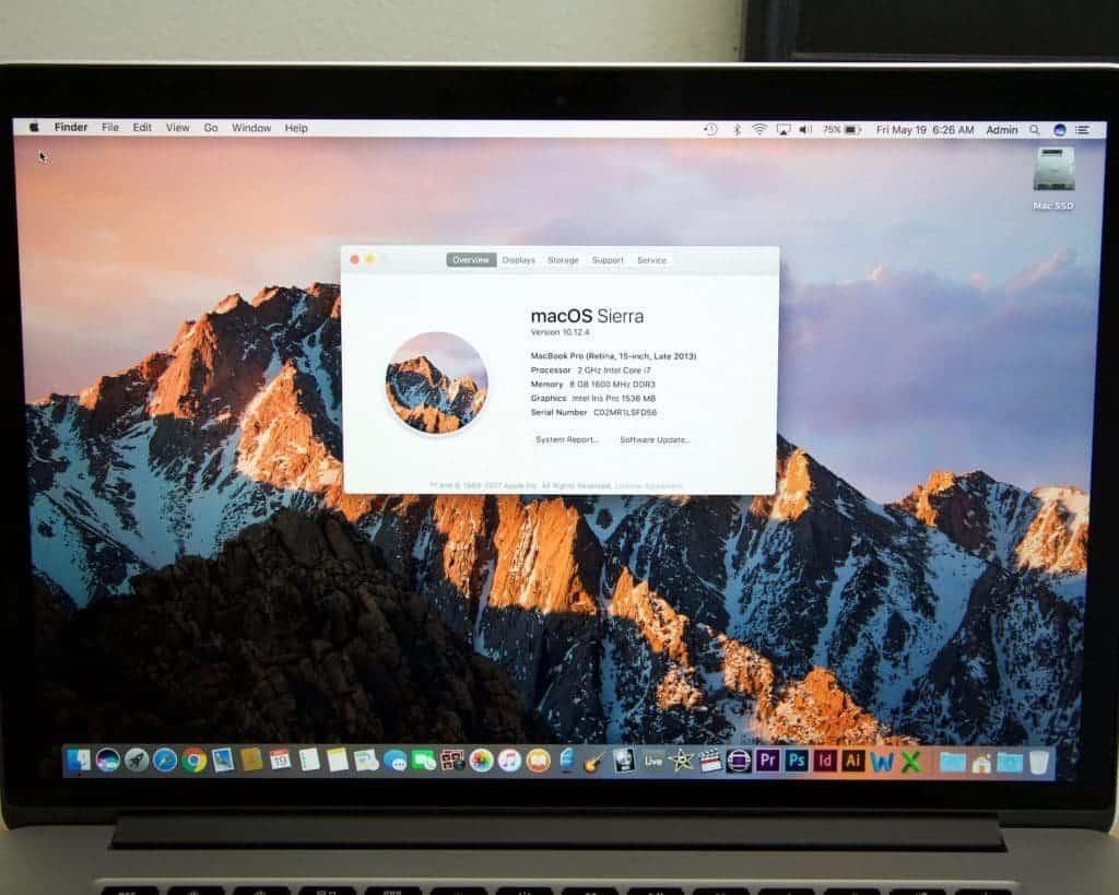 MacBook Pro 15 Retina for Sale Specs
