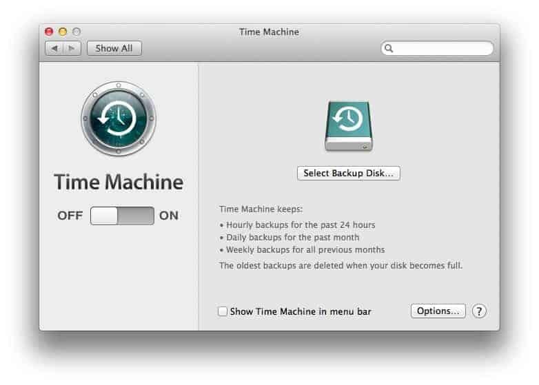 time machine window