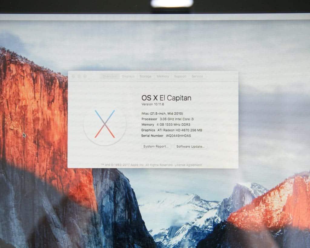 iMac 2010 For Sale Specs